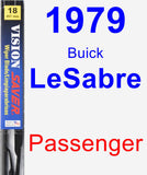 Passenger Wiper Blade for 1979 Buick LeSabre - Vision Saver