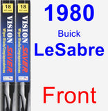 Front Wiper Blade Pack for 1980 Buick LeSabre - Vision Saver