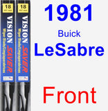 Front Wiper Blade Pack for 1981 Buick LeSabre - Vision Saver