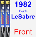 Front Wiper Blade Pack for 1982 Buick LeSabre - Vision Saver