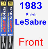 Front Wiper Blade Pack for 1983 Buick LeSabre - Vision Saver