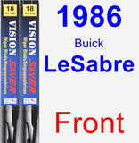 Front Wiper Blade Pack for 1986 Buick LeSabre - Vision Saver