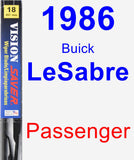 Passenger Wiper Blade for 1986 Buick LeSabre - Vision Saver