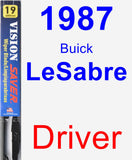 Driver Wiper Blade for 1987 Buick LeSabre - Vision Saver