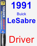 Driver Wiper Blade for 1991 Buick LeSabre - Vision Saver