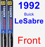 Front Wiper Blade Pack for 1992 Buick LeSabre - Vision Saver