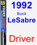 Driver Wiper Blade for 1992 Buick LeSabre - Vision Saver