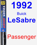 Passenger Wiper Blade for 1992 Buick LeSabre - Vision Saver