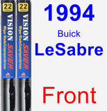 Front Wiper Blade Pack for 1994 Buick LeSabre - Vision Saver