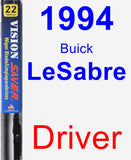 Driver Wiper Blade for 1994 Buick LeSabre - Vision Saver