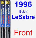 Front Wiper Blade Pack for 1996 Buick LeSabre - Vision Saver