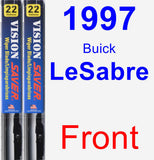 Front Wiper Blade Pack for 1997 Buick LeSabre - Vision Saver