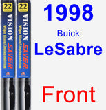 Front Wiper Blade Pack for 1998 Buick LeSabre - Vision Saver