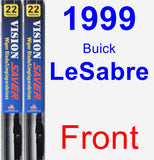 Front Wiper Blade Pack for 1999 Buick LeSabre - Vision Saver