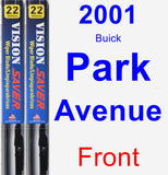 Front Wiper Blade Pack for 2001 Buick Park Avenue - Vision Saver