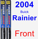 Front Wiper Blade Pack for 2004 Buick Rainier - Vision Saver