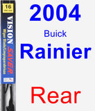 Rear Wiper Blade for 2004 Buick Rainier - Vision Saver