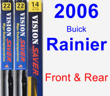 Front & Rear Wiper Blade Pack for 2006 Buick Rainier - Vision Saver