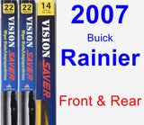 Front & Rear Wiper Blade Pack for 2007 Buick Rainier - Vision Saver