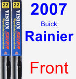 Front Wiper Blade Pack for 2007 Buick Rainier - Vision Saver