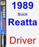 Driver Wiper Blade for 1989 Buick Reatta - Vision Saver