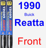 Front Wiper Blade Pack for 1990 Buick Reatta - Vision Saver