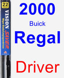 Driver Wiper Blade for 2000 Buick Regal - Vision Saver