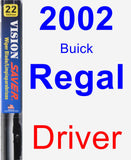 Driver Wiper Blade for 2002 Buick Regal - Vision Saver