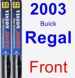 Front Wiper Blade Pack for 2003 Buick Regal - Vision Saver