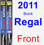 Front Wiper Blade Pack for 2011 Buick Regal - Vision Saver