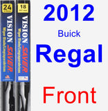 Front Wiper Blade Pack for 2012 Buick Regal - Vision Saver