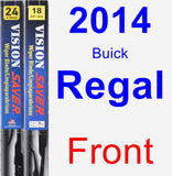 Front Wiper Blade Pack for 2014 Buick Regal - Vision Saver