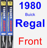 Front Wiper Blade Pack for 1980 Buick Regal - Vision Saver