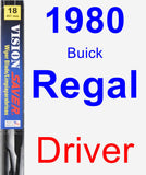 Driver Wiper Blade for 1980 Buick Regal - Vision Saver