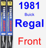 Front Wiper Blade Pack for 1981 Buick Regal - Vision Saver