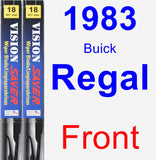 Front Wiper Blade Pack for 1983 Buick Regal - Vision Saver