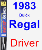 Driver Wiper Blade for 1983 Buick Regal - Vision Saver