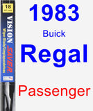 Passenger Wiper Blade for 1983 Buick Regal - Vision Saver