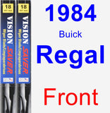 Front Wiper Blade Pack for 1984 Buick Regal - Vision Saver