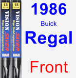 Front Wiper Blade Pack for 1986 Buick Regal - Vision Saver