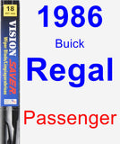 Passenger Wiper Blade for 1986 Buick Regal - Vision Saver