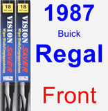 Front Wiper Blade Pack for 1987 Buick Regal - Vision Saver