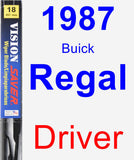 Driver Wiper Blade for 1987 Buick Regal - Vision Saver