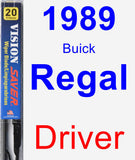 Driver Wiper Blade for 1989 Buick Regal - Vision Saver