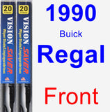 Front Wiper Blade Pack for 1990 Buick Regal - Vision Saver