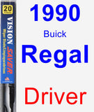 Driver Wiper Blade for 1990 Buick Regal - Vision Saver