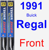 Front Wiper Blade Pack for 1991 Buick Regal - Vision Saver