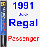 Passenger Wiper Blade for 1991 Buick Regal - Vision Saver