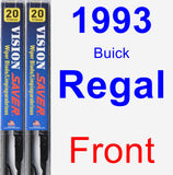 Front Wiper Blade Pack for 1993 Buick Regal - Vision Saver