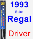 Driver Wiper Blade for 1993 Buick Regal - Vision Saver
